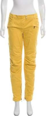Balmain Mid-Rise Moto Jeans