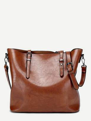 3df4f4b4af Shein Brown Tote Bags - ShopStyle