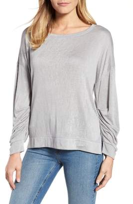 Caslon Tuck Sleeve Sweatshirt