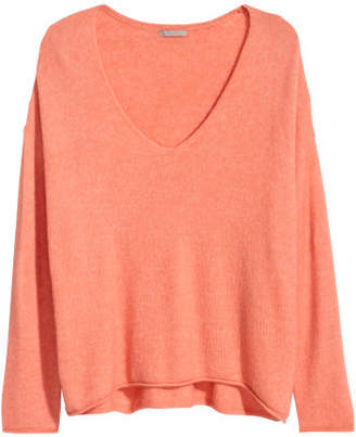 H&M H&M+ V-neck Sweater - Orange