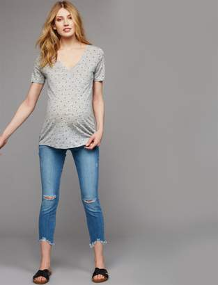 Paige Side Panel Verdugo Crop Maternity Jeans