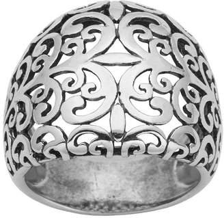 FINE JEWELRY Sterling Silver Scroll Filigree Ring