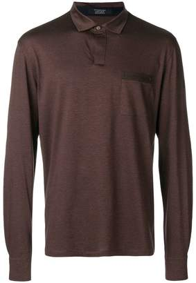 Ermenegildo Zegna Maserati long sleeve polo shirt