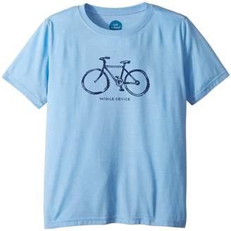Life is Good Mobile Device Bike Cool T-Shirt Boy's T Shirt