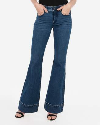 Express Mid Rise Denim Perfect Bell Flare Jeans