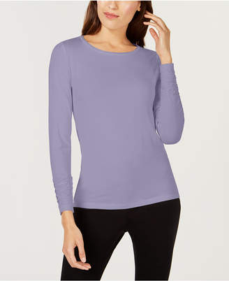 Alfani Long-Sleeve Ruched Top