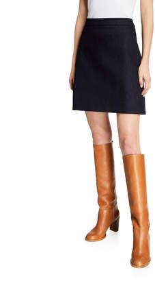 ADAM by Adam Lippes Denim A-Line Zip-Back Skirt