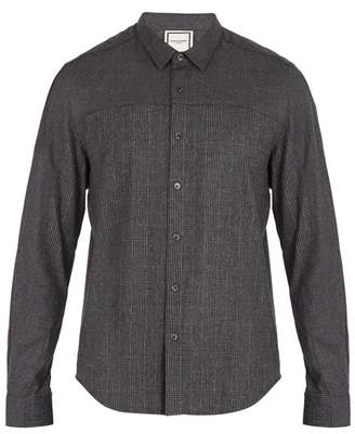 Wooyoungmi Prince of Wales-checked single-cuff flannel shirt