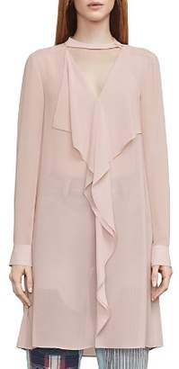 BCBGMAXAZRIA Shailene Ruffled Tunic Dress