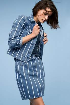 Next Womens Stripe Co-ord Denim Jacket