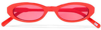 CHIMI - Joel Ighe Oval-frame Acetate Sunglasses - Papaya