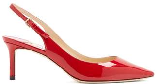 Jimmy Choo Erin 60 Slingback Patent Leather Pumps - Womens - Red