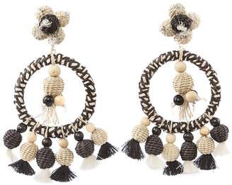 Casa Chiqui Oversized Woven Tassel Earrings