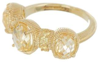 Judith Ripka 14K Gold Plated Sterling Silver Mardi Gras Multi-Gemstone Ring - Size 7