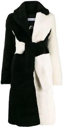 Saks Potts Wrapis two-tone coat