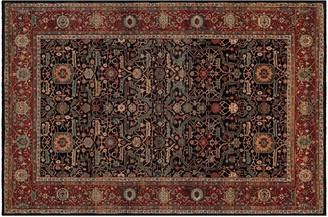 Couristan Old World Classics Joshagan Framed Floral Wool Rug