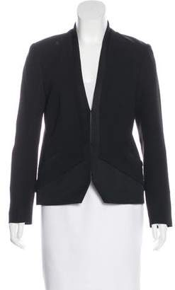 Haute Hippie Structured Silk Blazer
