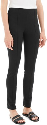 Theory Skinny Seamed Stretch Cotton Leggings