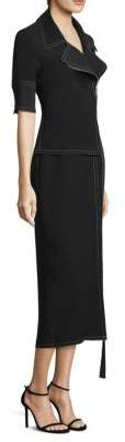 Yigal Azrouel Short-Sleeve Moto Dress