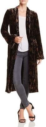 Paige Chrystin Velvet Print Tie-Waist Jacket