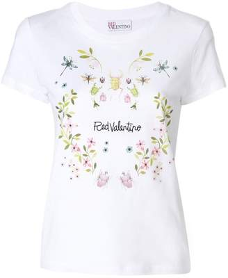 RED Valentino embroidered logo T-shirt