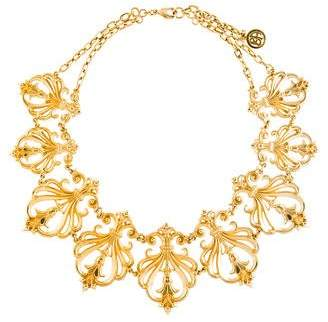 Ben-Amun Ben Amun Arabesque Motif Bib Necklace
