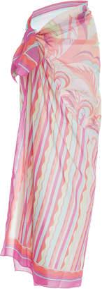 Emilio Pucci Printed Cotton-Gauze Pareo