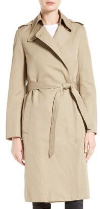 Women's Helmut Lang Double Face Cotton & Linen Jacket $795 thestylecure.com