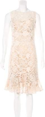 Rolando Santana Lace Midi Dress