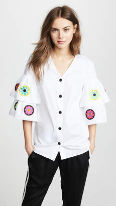 Katya Dobryakova Flowers Circle Ornament Long Shirt