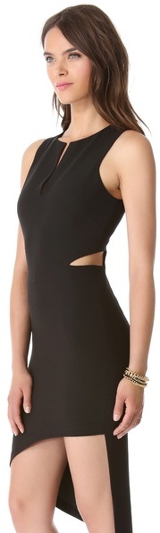 Robert Rodriguez Asymmetrical Cutout Dress
