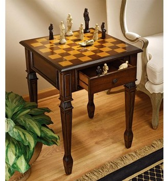 Toscano Design Walpole Manor Gaming Chess Table
