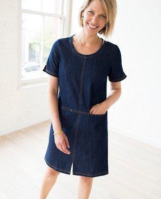 Women Modern Stitch Chambray Dress $128 thestylecure.com