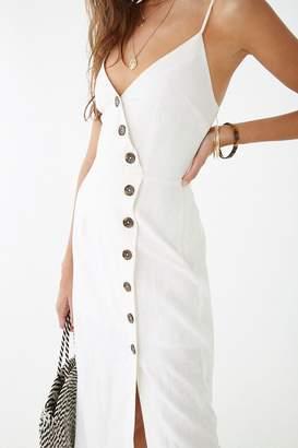 Forever 21 Linen-Blend Surplice Cami Dress