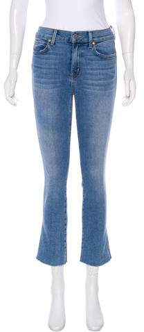 Level 99 Mid-Rise Straight Jeans
