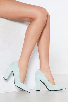 Nasty Gal Strut Out Faux Suede Heel