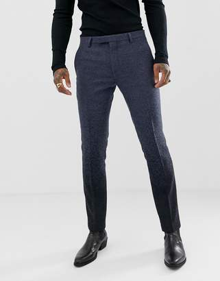 Twisted Tailor super skinny suit pant in navy ombre