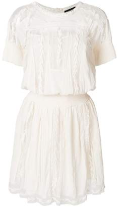 Twin-Set embroidered shortsleeved dress