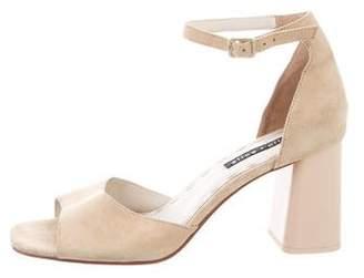 Alice + Olivia Suede Open-Toe Sandals