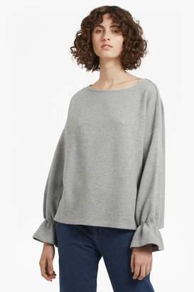 French Connenction Ellen Fluted Sleeve Textured Jumper