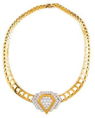 Diamond Convertible Brooch Collar Necklace