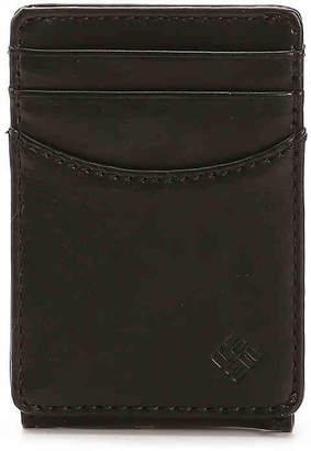 Columbia Magnetic Security Leather Card Case Wallet - Men's
