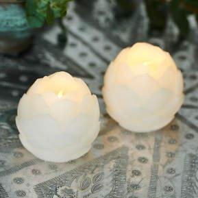 Hübsche Wachs-LED-Dekoleuchten Helene, 2er-Set