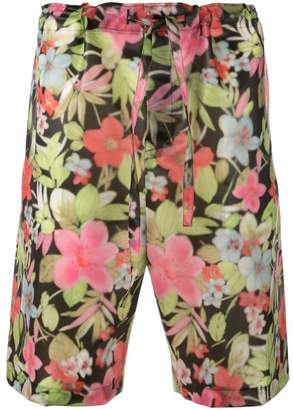 Comme des Garcons floral print bermuda shorts
