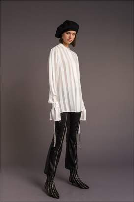 Sonia Rykiel Transparent Striped Blouse