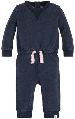 Burt's Bees French Terry Denim Wash Organic Baby One Piece Jumpsuit