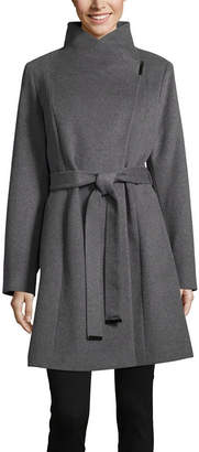Liz Claiborne Belted Midweight Overcoat