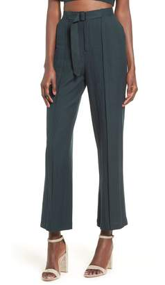 Moon River Belted High Waist Pants