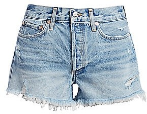 A Gold E AGOLDE Women's Parker Vintage Denim Cutoffs