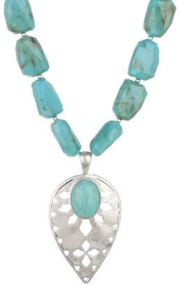 The Sak Faceted Bead & Teardrop Pendant Necklace